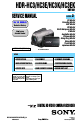 Sony Handycam HDR-HC3 Camcorder, Camera Accessories Manual, Page 1