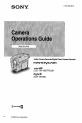 Sony CCD-TRV138 - Handycam Camcorder - 320 KP Camcorder, Digital Camera Manual, Page 1