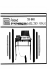 Roland SH-1000 Instruction manual