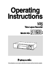 Panasonic AGRT850 - TIME LAPSE VTR Operating Instructions Manual 32 pages