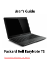 Packard Bell EasyNote TS Operation & User's Manual 105 pages