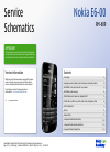 Nokia E6–00 Service Schematics 13 pages
