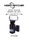 NightWatcher NW1200X Installation & Operating Manual 7 pages