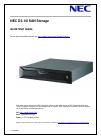 NEC D3-10i Quick Start Manual 65 pages