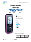 Nokia 1680 - Classic Cell Phone Service Manual 13 pages
