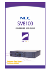 NEC SV-8100 Condensed User's Manual 19 pages