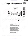 Integra DTR-40.1 Service manual
