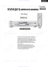Integra DPS-5.2 Service Manual 40 pages