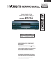 Integra DPS-10.5 Service Manual 169 pages