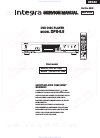 Integra DPS-5.5 Service Manual 88 pages