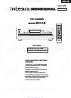 Integra DPC-7.5 Service Manual 99 pages