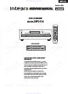 Integra DPC-7.4 Service Manual 64 pages