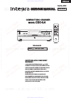 Integra CDC-3.4 Service Manual 64 pages