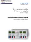 Hameg HM7044 Manual 13 pages