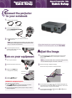Epson 740c - PowerLite XGA LCD Projector Quick Setup Manual 4 pages