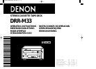 Denon DRR-M33 Operating Instructions Manual 74 pages