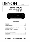 Denon DRM-600 Service Manual 34 pages