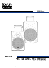 DAPAudio pss-110 Manual 16 pages