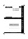 Aiwa CA-DW235 Service Manual 14 pages