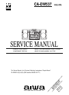 Aiwa CA-DW537 Service Manual 32 pages