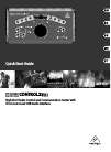 Behringer XENYX CONTROL2USB Quick Start Manual 17 pages