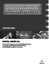 Behringer DIGITAL SNAKE S32 Quick Start Manual 11 pages