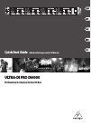 Behringer ULTRA-DI PRO DI4000 Quick Start Manual 16 pages