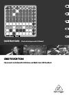 Behringer CMD TOUCH TC64 Quick Start Manual 13 pages