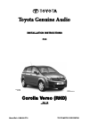 Toyota Corolla Verso Installation instructions manual