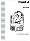 ProLights Ruby Operation & User's Manual 76 pages