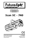 Future light Scan SC-740 Operation & User's Manual 47 pages
