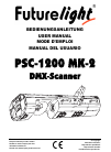 Future light PSC-1200 MK-2 Operation & User's Manual 99 pages