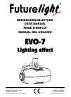 Future light EVO-7 Lightning Effect Operation & User's Manual 55 pages