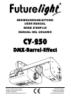 Future light CY-250 Operation & User's Manual 52 pages