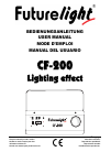 Future light CF-200 Lighting effect Operation & User's Manual 54 pages