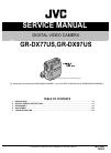 JVC GR-DX77US Service manual