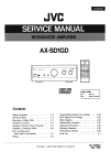 JVC AX-SD1GD Service Manual 102 pages