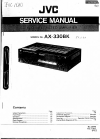 JVC AX-330BK Service Manual 6 pages