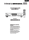 Integra DPS-7.2 Service Manual 39 pages