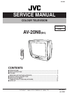 JVC AV-21F8 Service Manual 27 pages