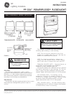 GE PF-154 Instructions 4 pages